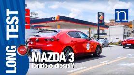 5   Mazda3 LRT   Viaggio al castello con la Mazda Skyactiv-X Benzina Diesel comparativa consumi